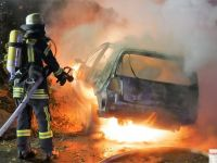 Verkehrsunfall - PKW in Vollbrand