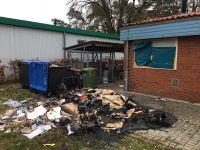 Brennen Müllcontainer