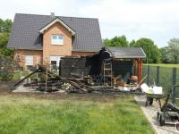 Brennt Gartenhaus
