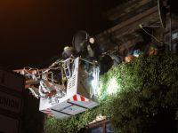 15 Personen bei Kellerbrand aus Mehrfamilienhaus gerettet!