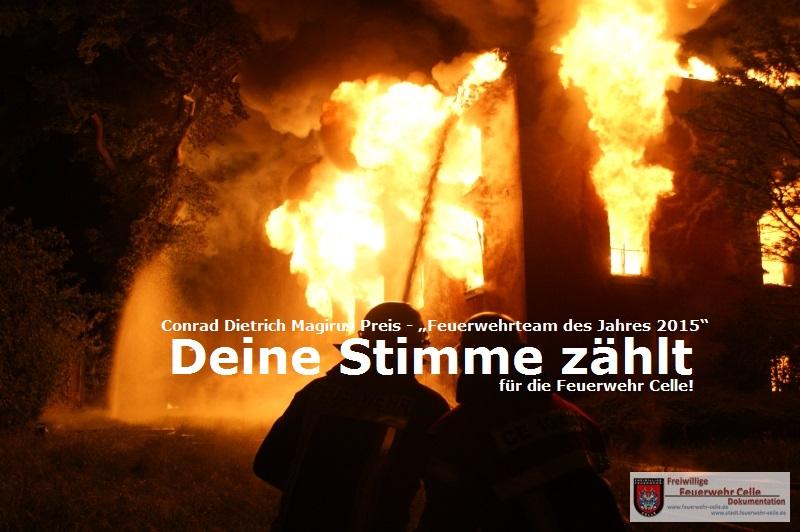 """Deine Stimme zählt – """"Feuerwehrteam des Jahres 2015"""""""