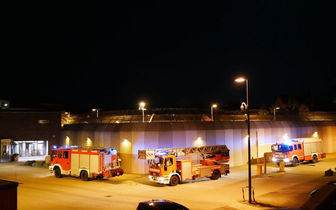 Feuer in Haftraum