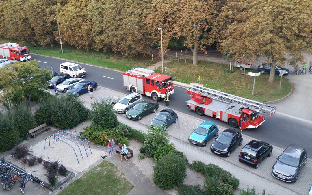 Feuer in Küche – 1 Person gerettet