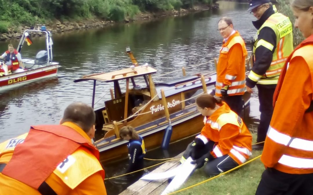 Boot droht zu sinken