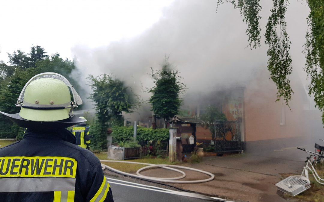 Küchenbrand in voller Ausdehnung