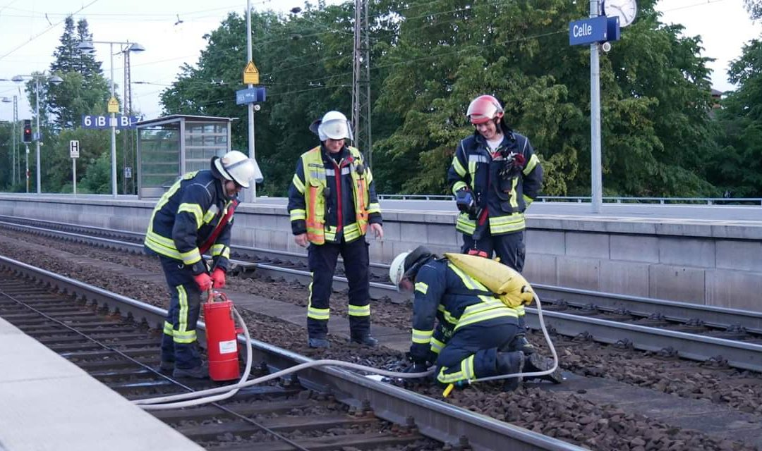Schwelbrand Bahnschwelle