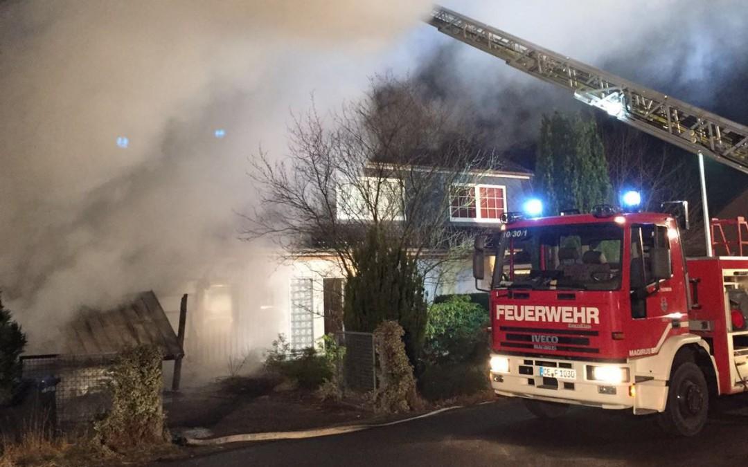 Anforderung Drehleiter – Gebäudebrand