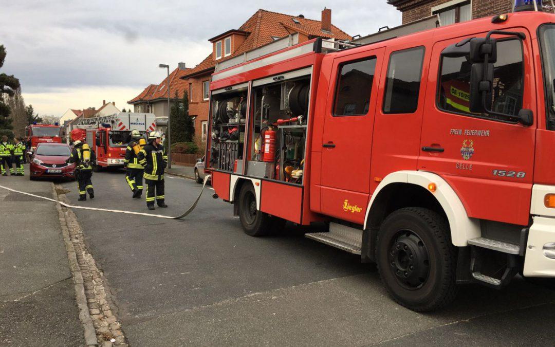 Unklare Feuermeldung – Hunde erschweren Zugang zum Gebäude!