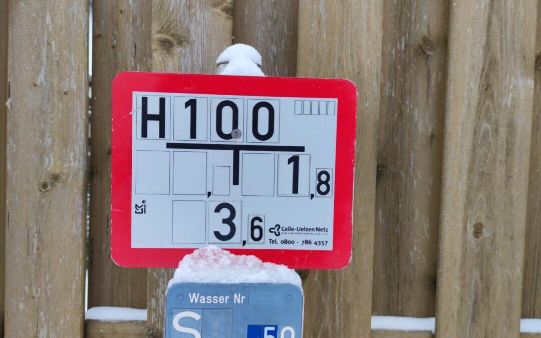 Halten Sie Hydranten frei von Schnee!