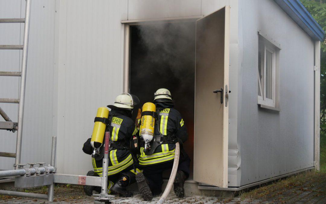 Feuer in Betriebsraum