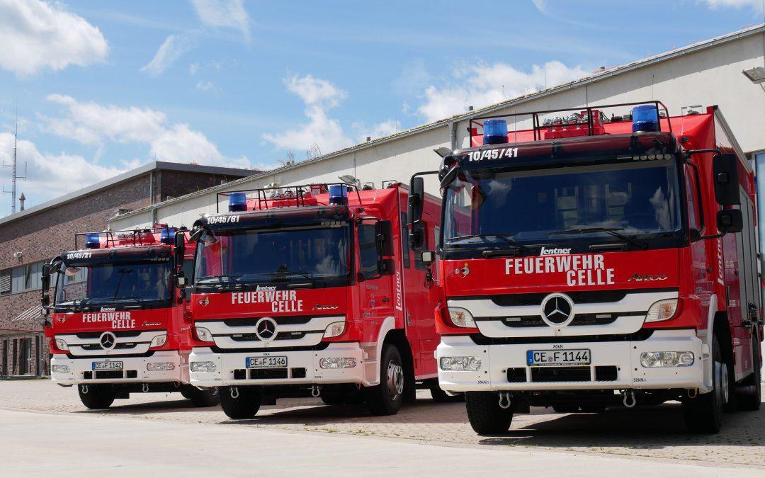 Drei neue Löschgruppenfahrzeuge für die Feuerwehr Celle