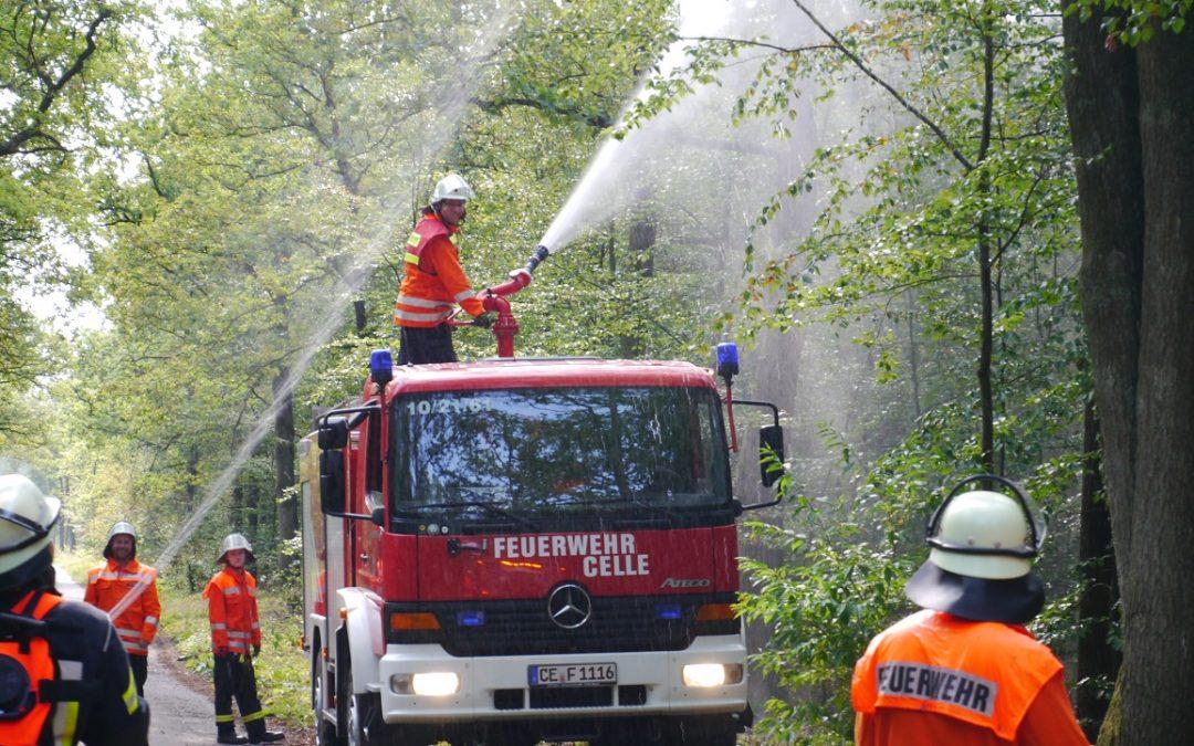 Waldbrandübung der Stadtfeuerwehrbereitschaft