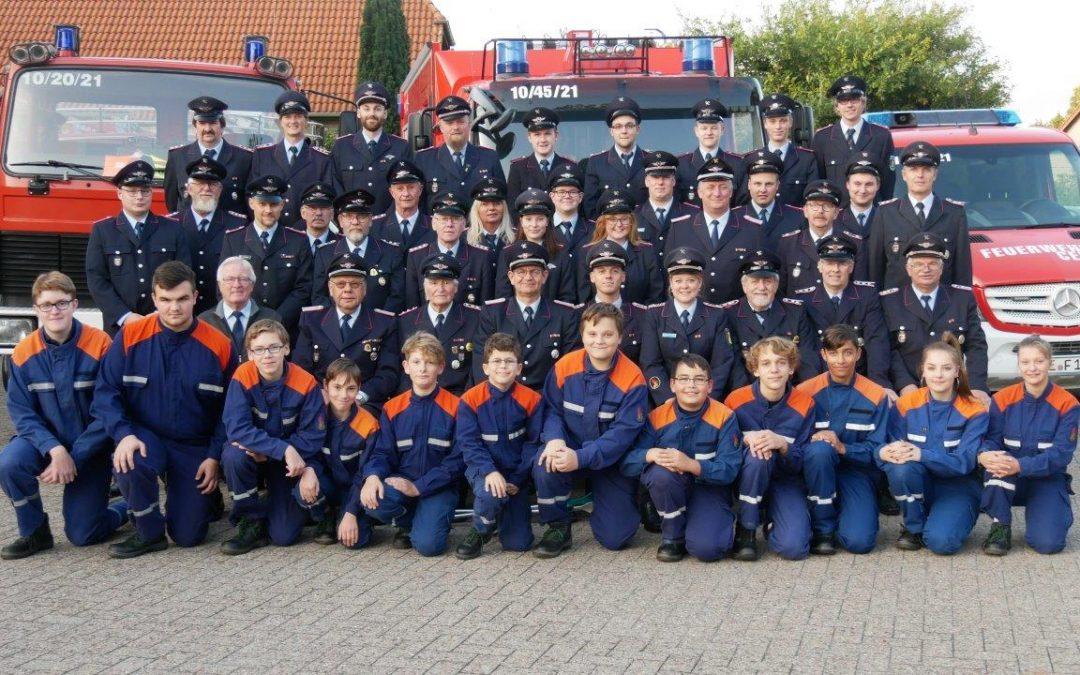 Ehrungen für langjährige Mitgliedschaften bei der Ortsfeuerwehr Altenhagen
