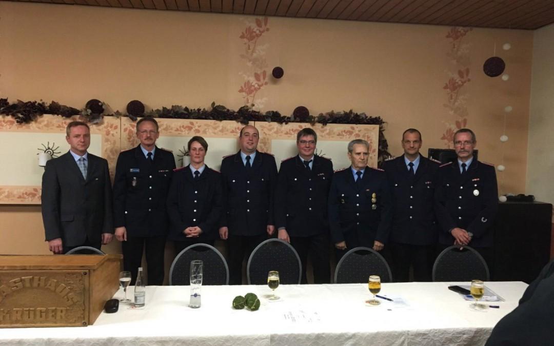 Jahreshauptversammlung der Freiwilligen Feuerwehr Celle-Scheuen vom 16.01.2016