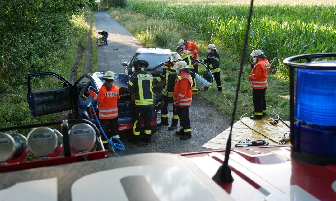 4. Zug übt den Einsatz bei Verkehrsunfällen!