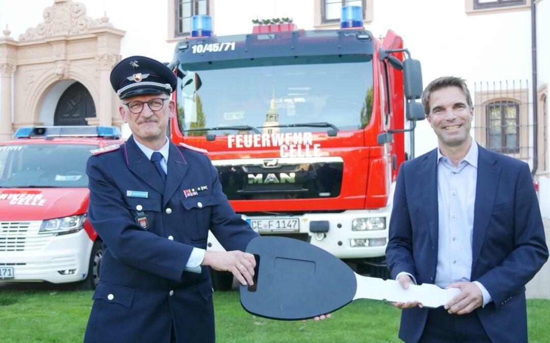 Sechs neue Fahrzeuge für die Feuerwehr Celle